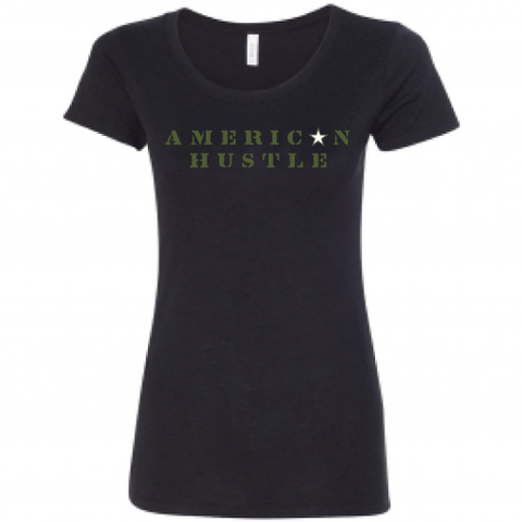 Ladies American Hustle Tee-Boxstar Apparel
