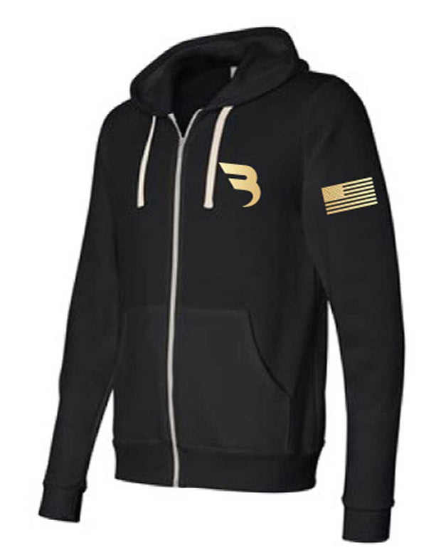B Athletics Midweight Triblend Full-Zip Sweatshirt-Boxstar Apparel