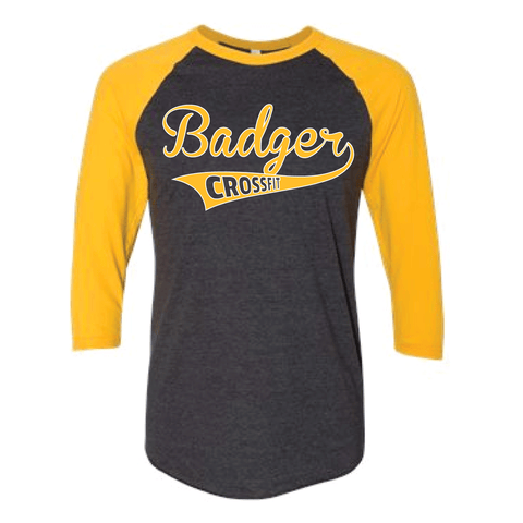 Badger CrossFit Varsity Baseball Tee-Boxstar Apparel