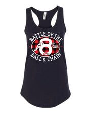 CFK Ball and Chain 8 Ladies Tank-Boxstar Apparel