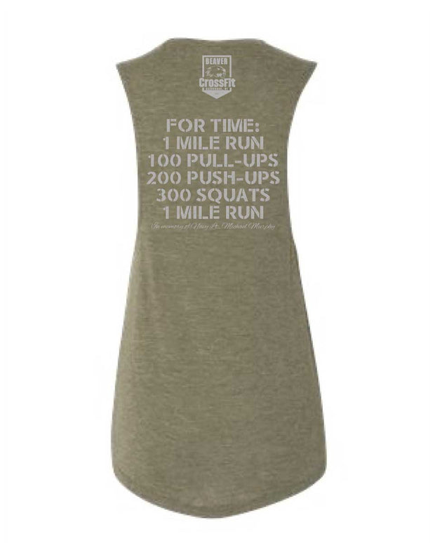Beaver CrossFit Ladies Murph Muscle Tank-Boxstar Apparel