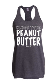 Ladies Blood Type Peanut Butter Tank-Boxstar Apparel