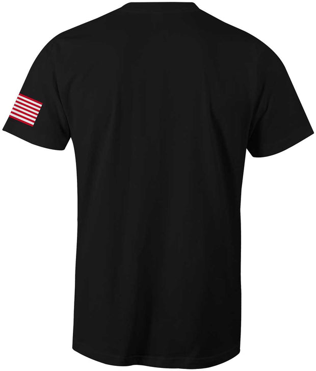 Men's American Flag Logo Tee-Boxstar Apparel