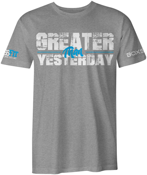 CrossFit Fond du Lac Greater than Yesterday Tee-Boxstar Apparel