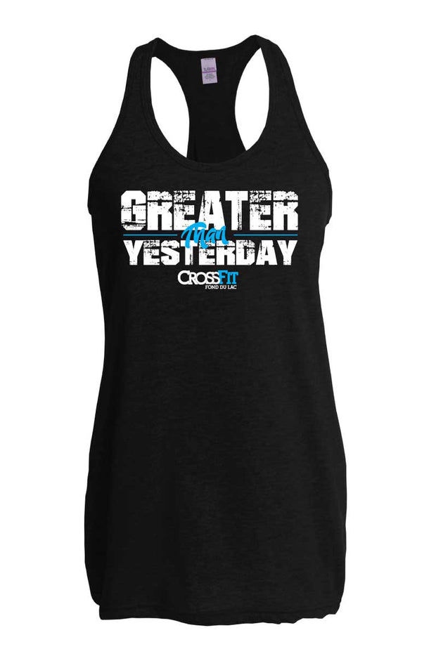 CrossFit Fond du Lac Greater than Yesterday Tank-Boxstar Apparel