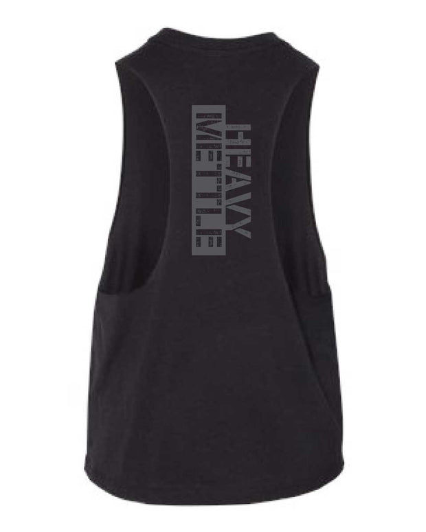 CrossFit Mettle & Honor Cropped Racerback Tank-Boxstar Apparel
