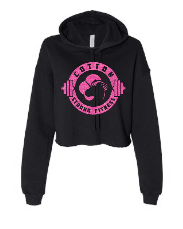 Cotton Strong Ladies Cropped Hoodie-Boxstar Apparel
