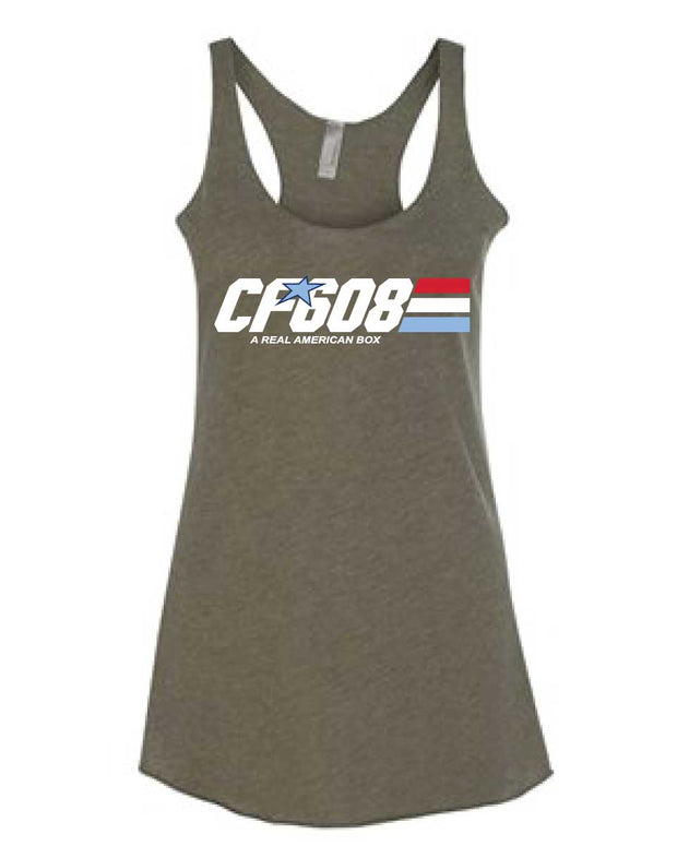 CrossFit 608 Ladies Racerback Tank-Boxstar Apparel