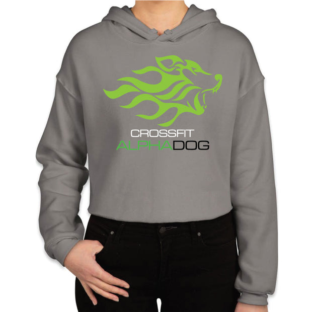 CrossFit Alpha Dog Ladies Crop Fleece Hoodie-Boxstar Apparel
