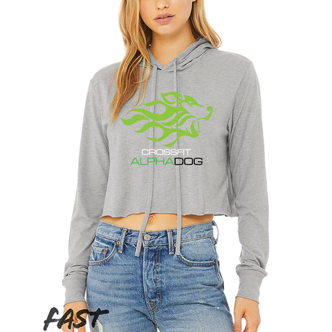 CrossFit Alpha Dog Ladies Cropped Long Sleeve Tee-Boxstar Apparel