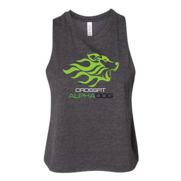 CrossFit Alpha Dog Ladies Crop Racerback Tank-Boxstar Apparel