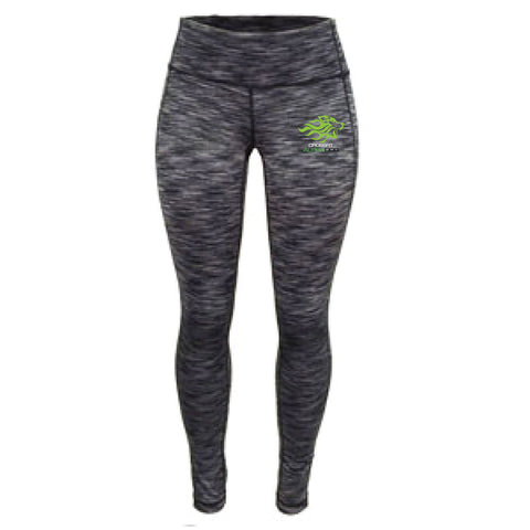CrossFit Alpha Dog Ladies Full Length Space Dye Tights-Boxstar Apparel