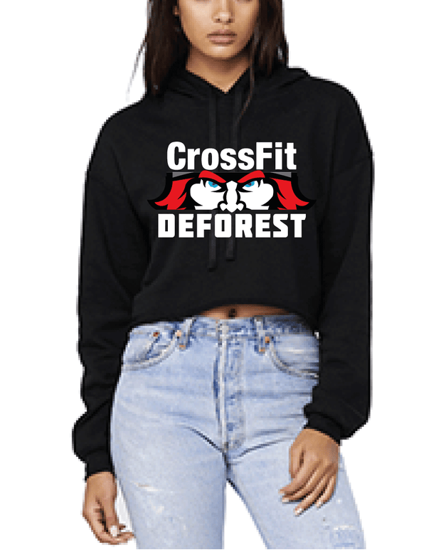 CrossFit Deforest Ladies Crop Fleece Hoodie-Boxstar Apparel