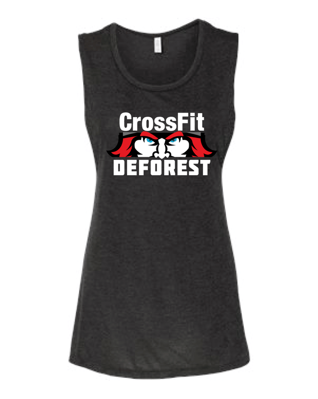 CrossFit Deforest Ladies Muscle Tank-Boxstar Apparel