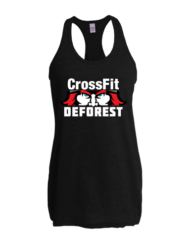 CrossFit Deforest Ladies Racerback Tank-Boxstar Apparel