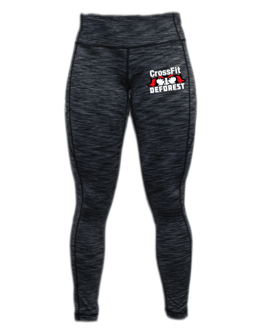 CrossFit Deforest Ladies Full Length Space Dye Tights-Boxstar Apparel