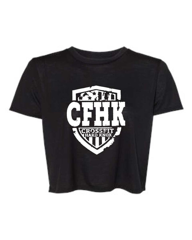 CrossFit Hard Knox Ladies Flowy Cropped Tee-Boxstar Apparel