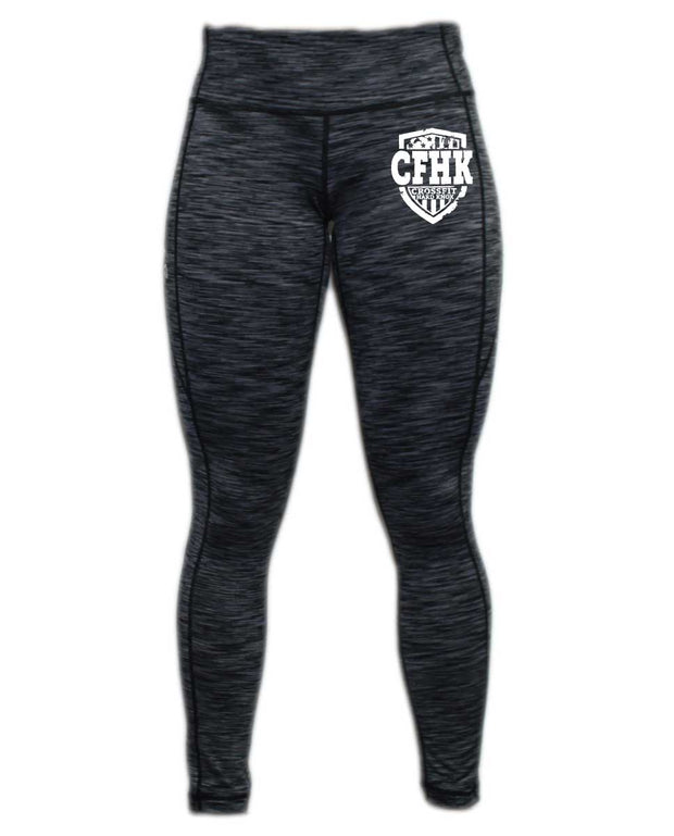 CrossFit Hard Knox Full Length Black Space Dye Tights-Boxstar Apparel