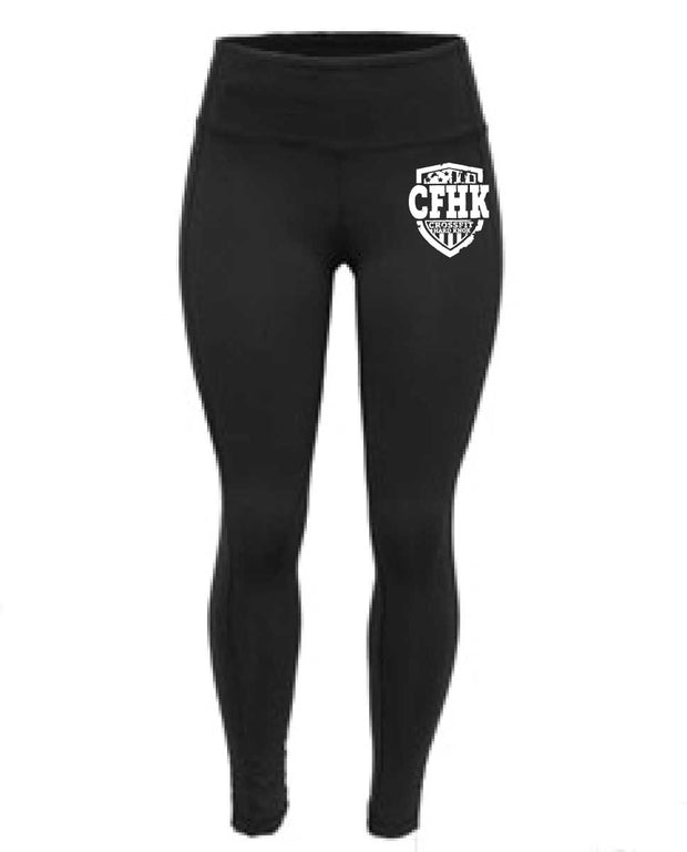 CrossFit Hard Knox High Waist Full Length Black Tights-Boxstar Apparel