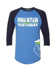 Men's CrossFit Rohkeus Greater Than Yesterday Baseball Tee (pre-order)-Boxstar Apparel