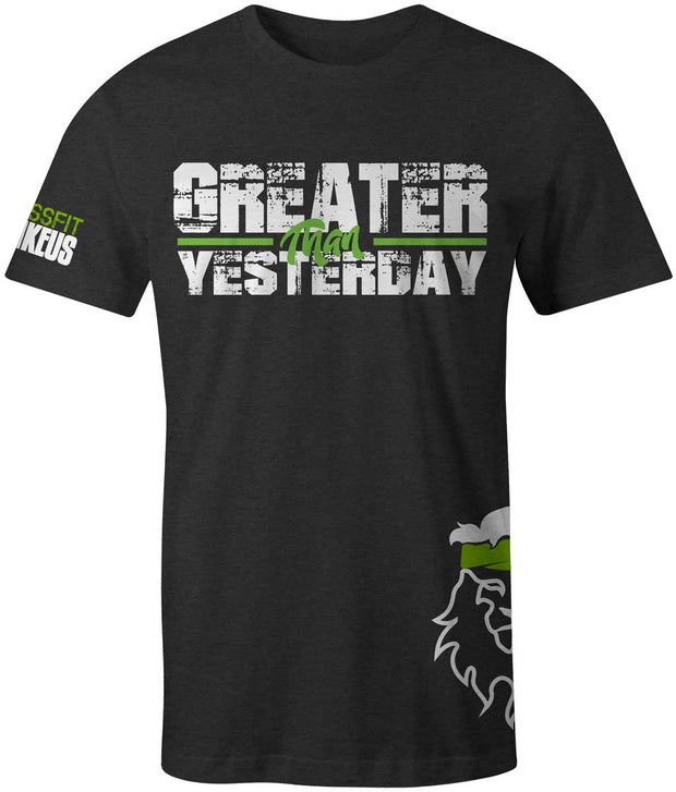 Men's CrossFit Rohkeus Greater Than Yesterday Tee (pre-order)-Boxstar Apparel