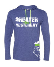 CrossFit Rohkeus Greater Than Yesterday Long Sleeve Hooded Tee (pre-order)-Boxstar Apparel