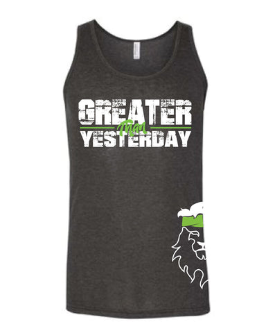 Men's CrossFit Rohkeus Greater Than Yesterday Tank (pre-order)-Boxstar Apparel