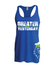 Ladies CrossFit Rohkeus Greater Than Yesterday Racerback Tank (pre-order)-Boxstar Apparel