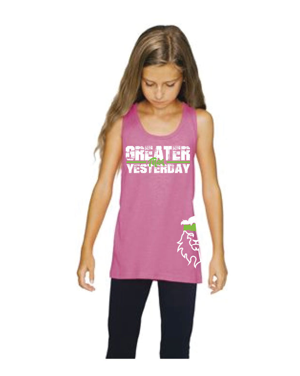 CrossFit Rohkeus Greater Than Yesterday Youth Tank (pre-order)-Boxstar Apparel