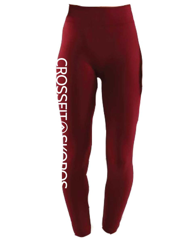 CrossFit Skopos Ladies High Waist Full Length Tights-Boxstar Apparel