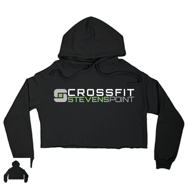 CrossFit Stevens Point Ladies Cropped Hoodie-Boxstar Apparel