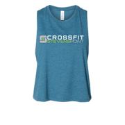 CrossFit Stevens Point Ladies Crop Racerback Tank-Boxstar Apparel