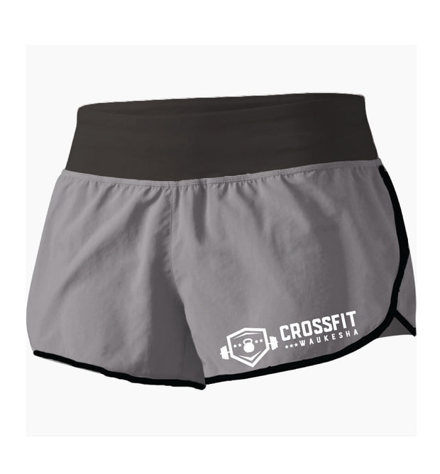 CrossFit Waukesha Ladies Running Shorts-Boxstar Apparel