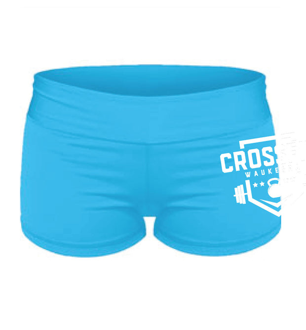 CrossFit Waukesha Ladies Tight Shorts-Boxstar Apparel
