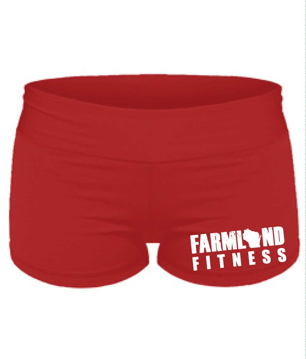 Ladies Farmland Fitness Tight Shorts-Boxstar Apparel