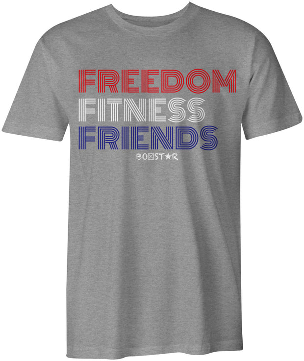 Men's Freedom Fitness Friends Tee-Boxstar Apparel