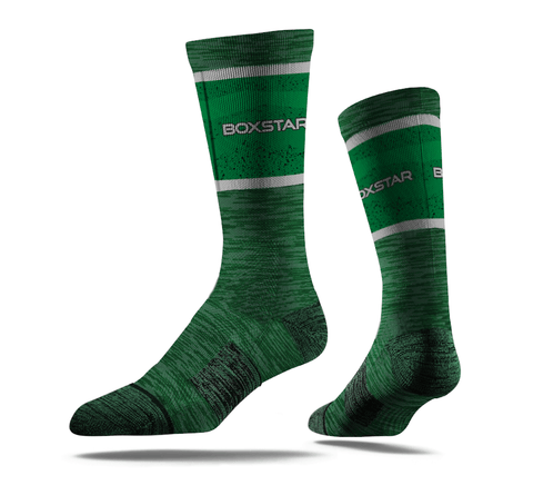 Green Sleek Crew Socks-Boxstar Apparel