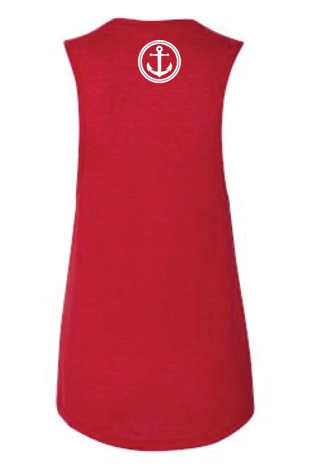 HPCF Ladies State Outline Muscle Tank-Boxstar Apparel