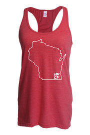 HPCF Ladies Racerback State Outline Tank-Boxstar Apparel