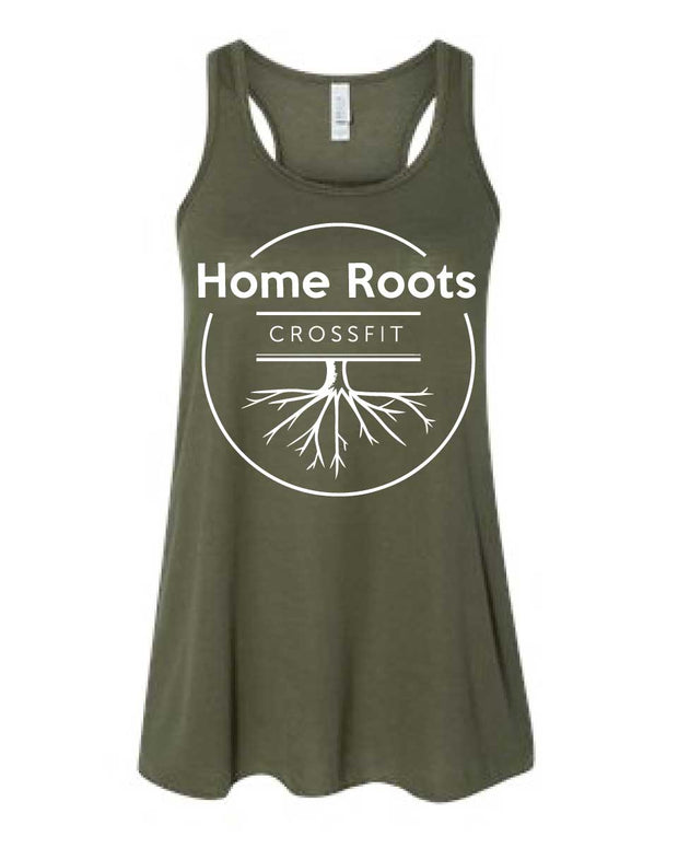 Home Roots CrossFit Ladies Big Logo Tank (Loose)-Boxstar Apparel