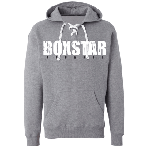 Lace Up Pullover Sweatshirt-Boxstar Apparel