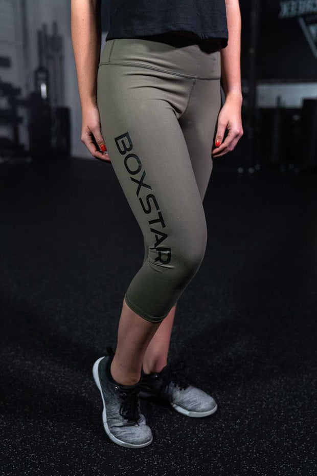 Ladies Army Capris-Boxstar Apparel