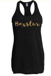 Ladies Gold Curvy Tank-Boxstar Apparel