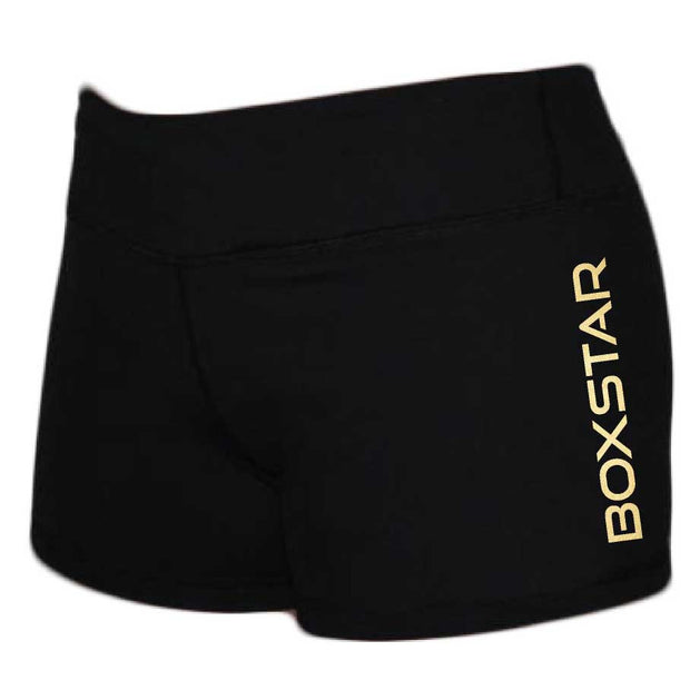 Ladies Gold Shorts-Boxstar Apparel