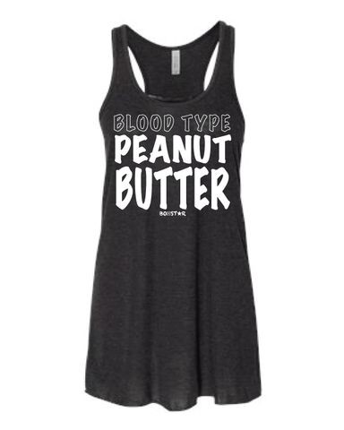 Ladies Blood Type Peanut Butter Tank (Flowy)-Boxstar Apparel