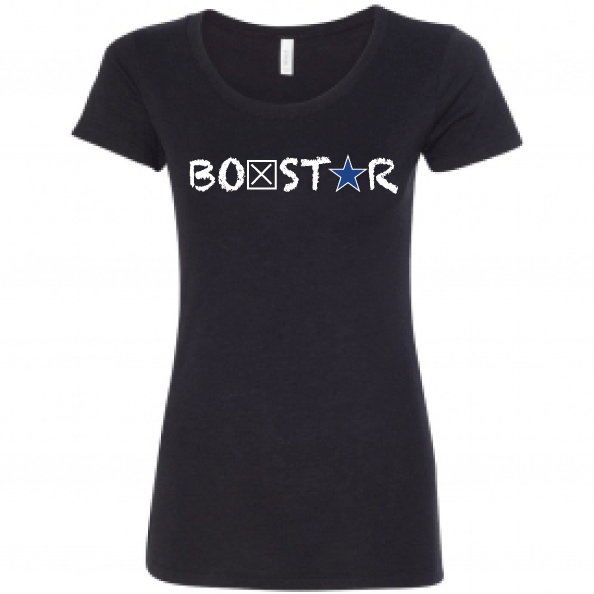 Ladies Blue Line Tee-Boxstar Apparel