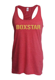 Ladies Gold Block Tank-Boxstar Apparel