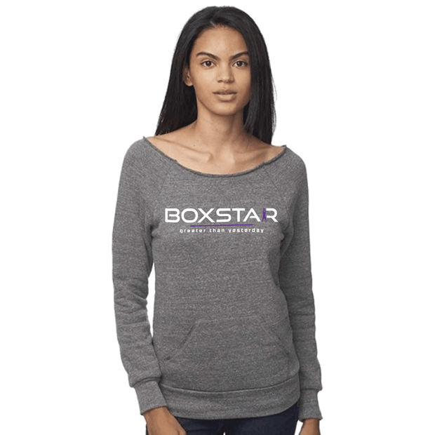 Ladies Greater Than Yesterday Raglan Sweatshirt-Boxstar Apparel