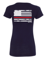 Ladies Red Line Tee-Boxstar Apparel