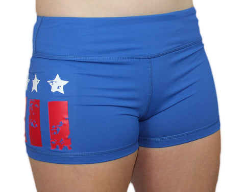 Ladies RWB WOD Shorts-Boxstar Apparel
